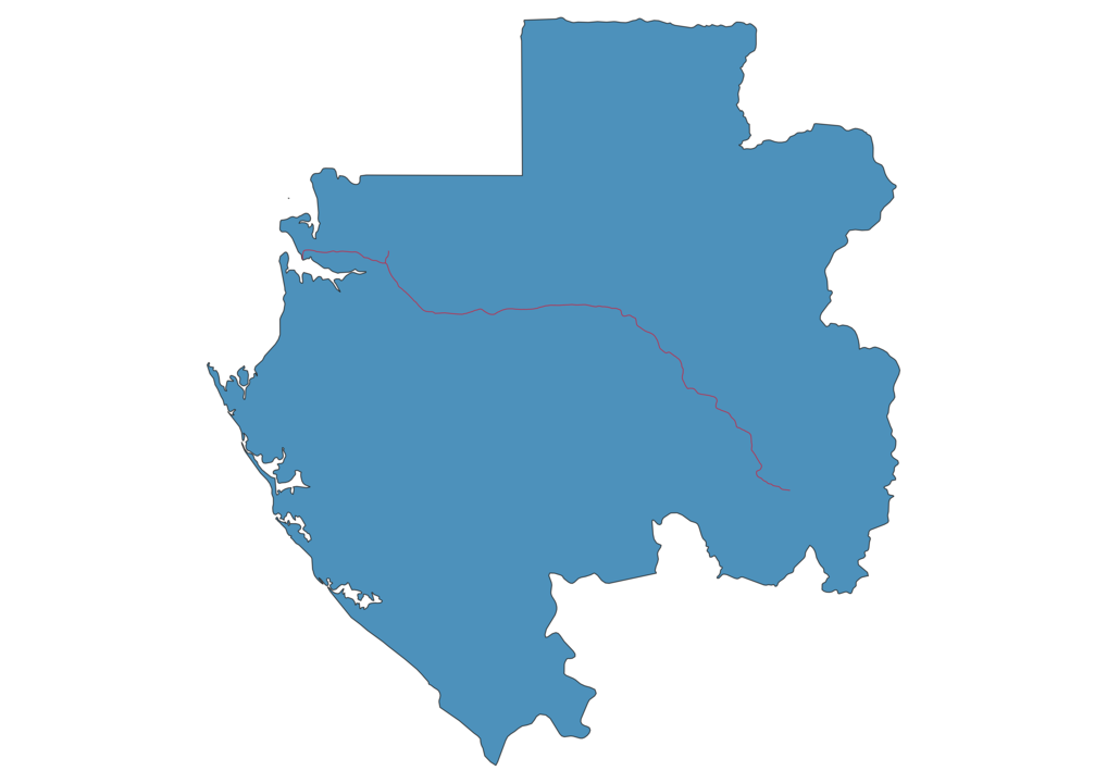 Gabon Railway Map