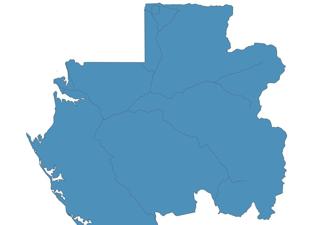 Map of Roads in Gabon