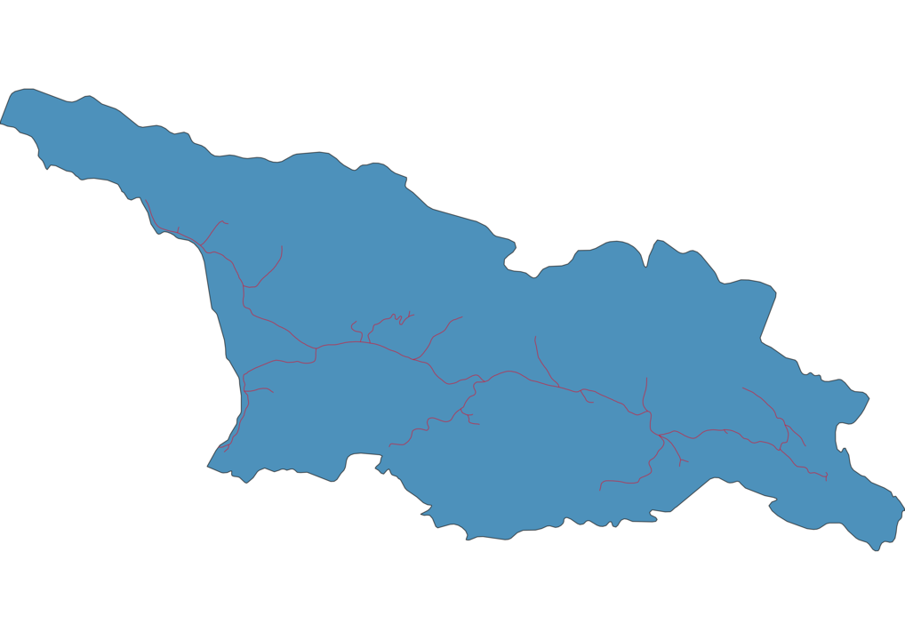Georgia Railway Map