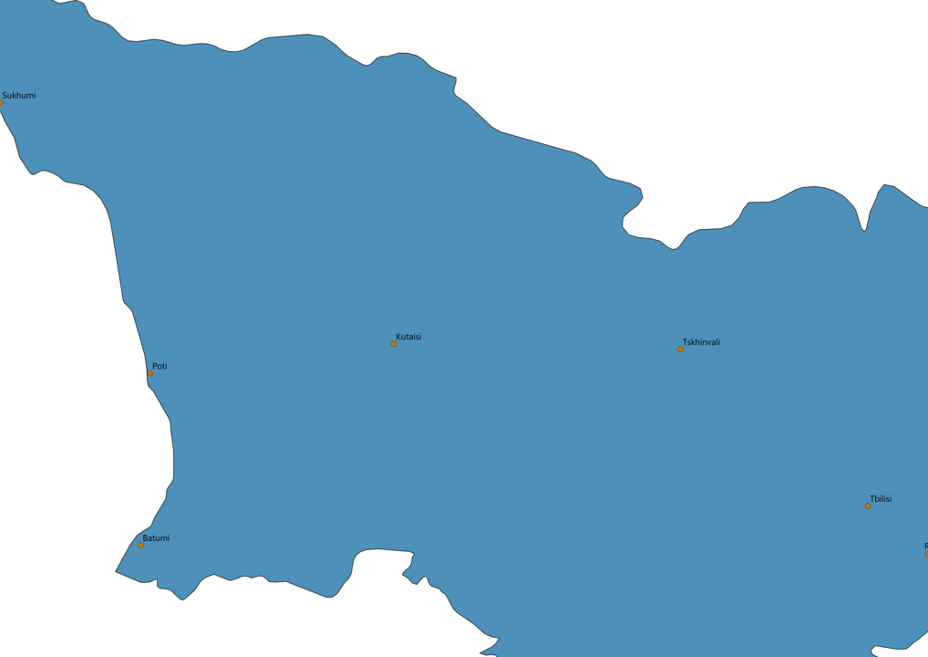Georgia Cities Map