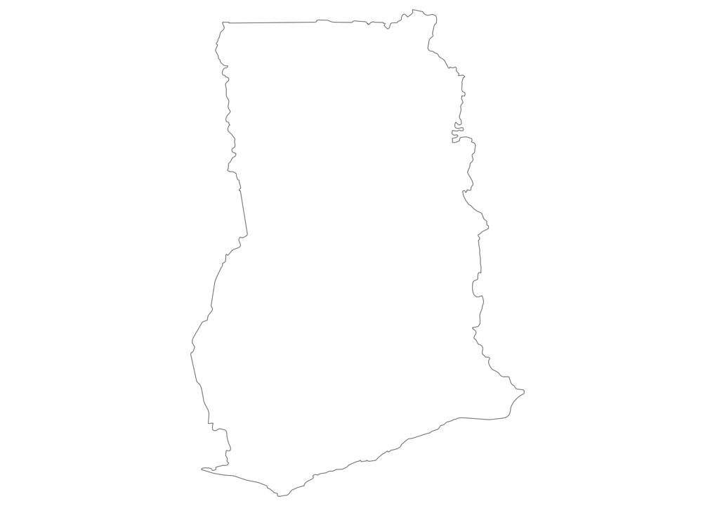 Ghana Outline Map