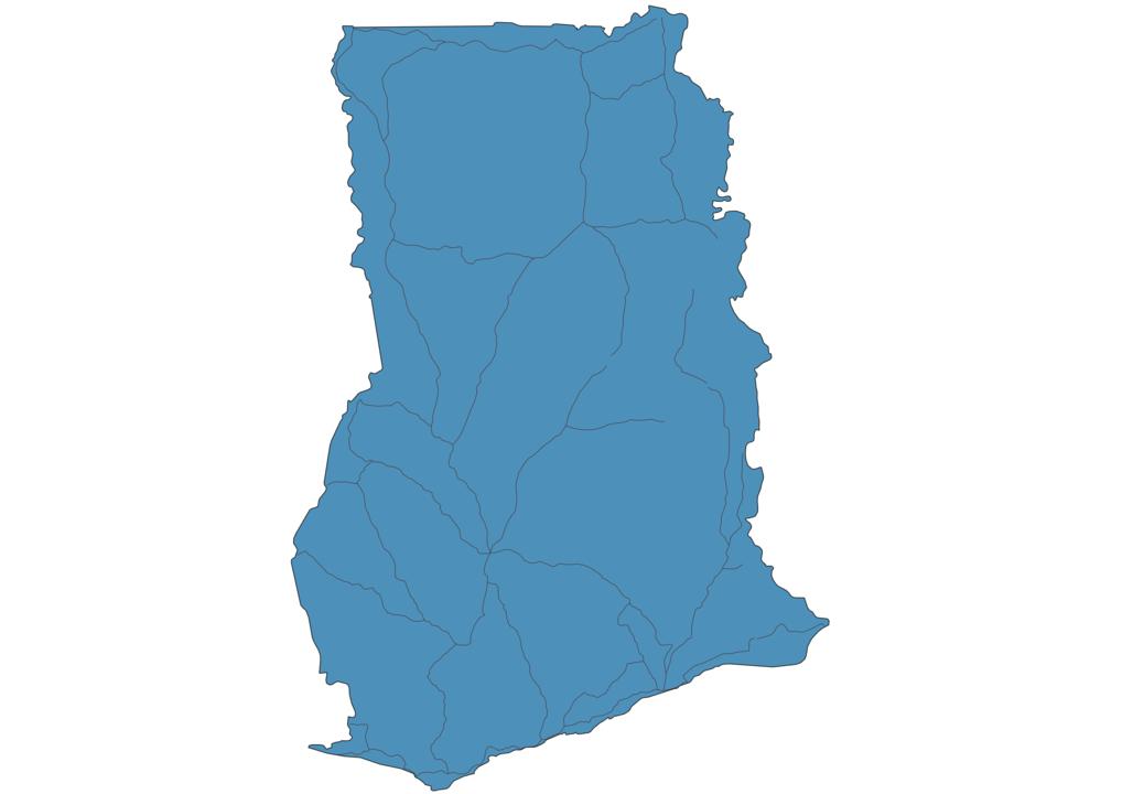 Map of Roads in Ghana