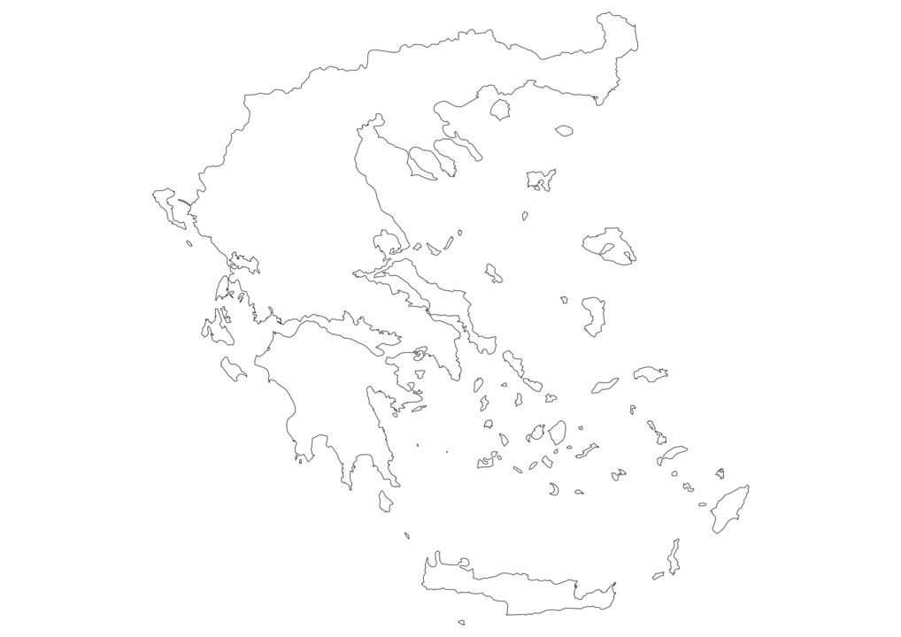 Greece Outline Map