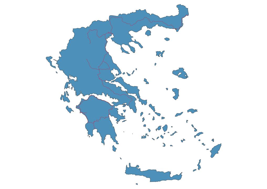 Greece Railway Map