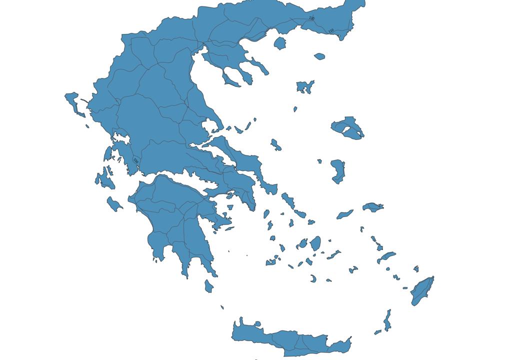 Map of Roads in Greece