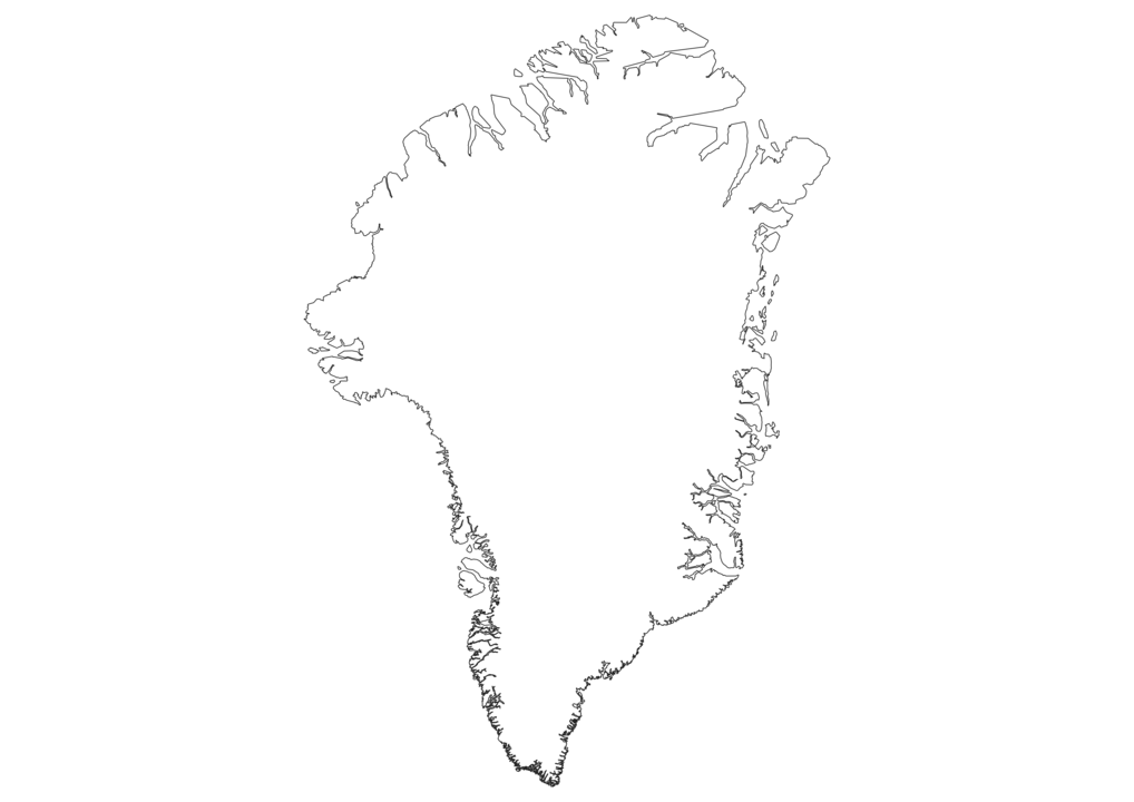 Greenland Outline Map