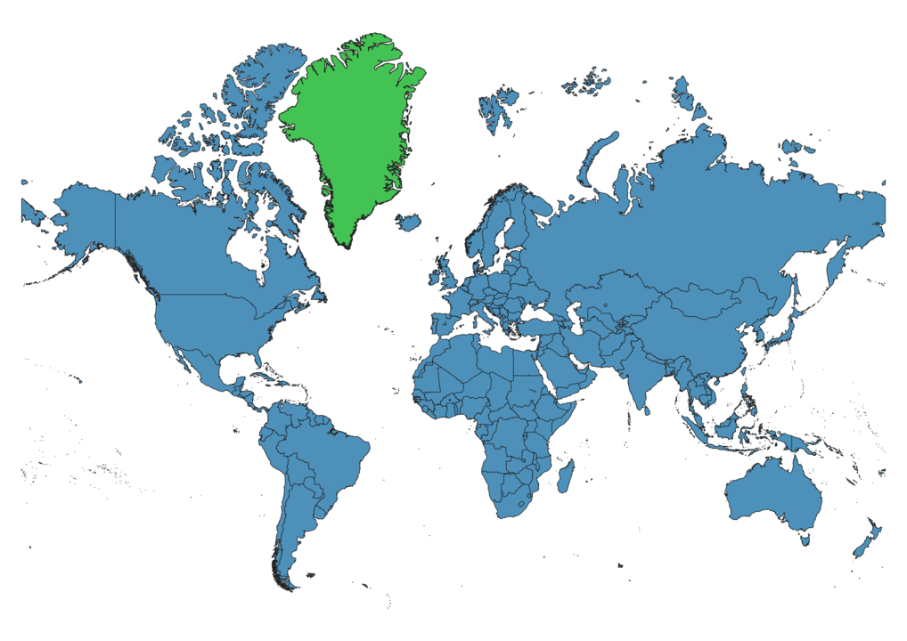 Greenland Location on Global Map