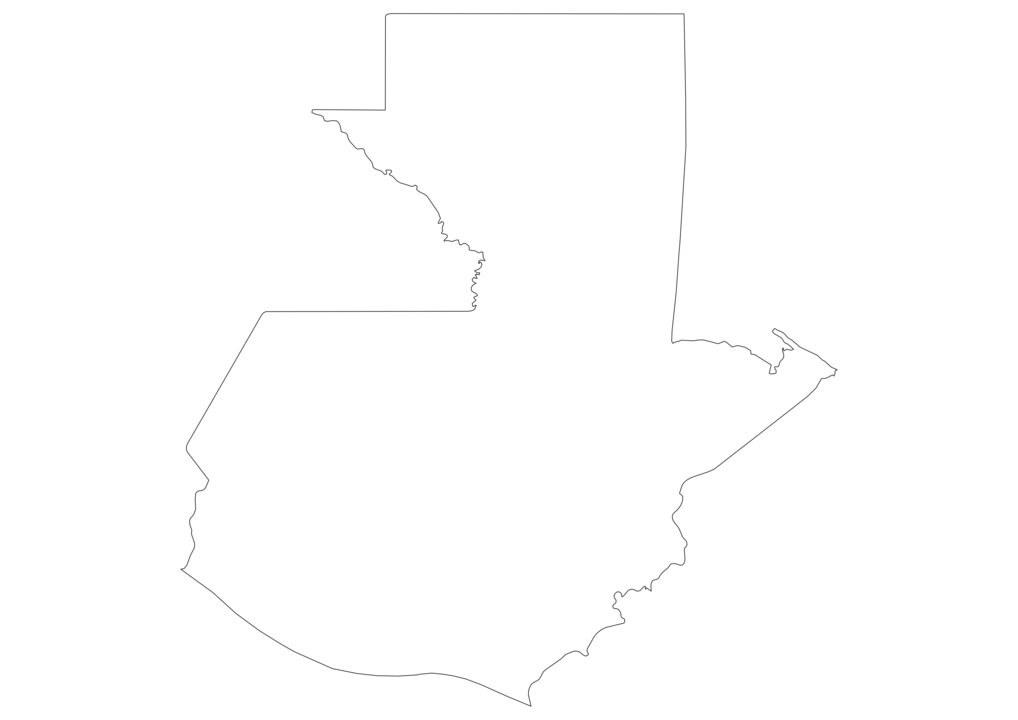 Guatemala Outline Map