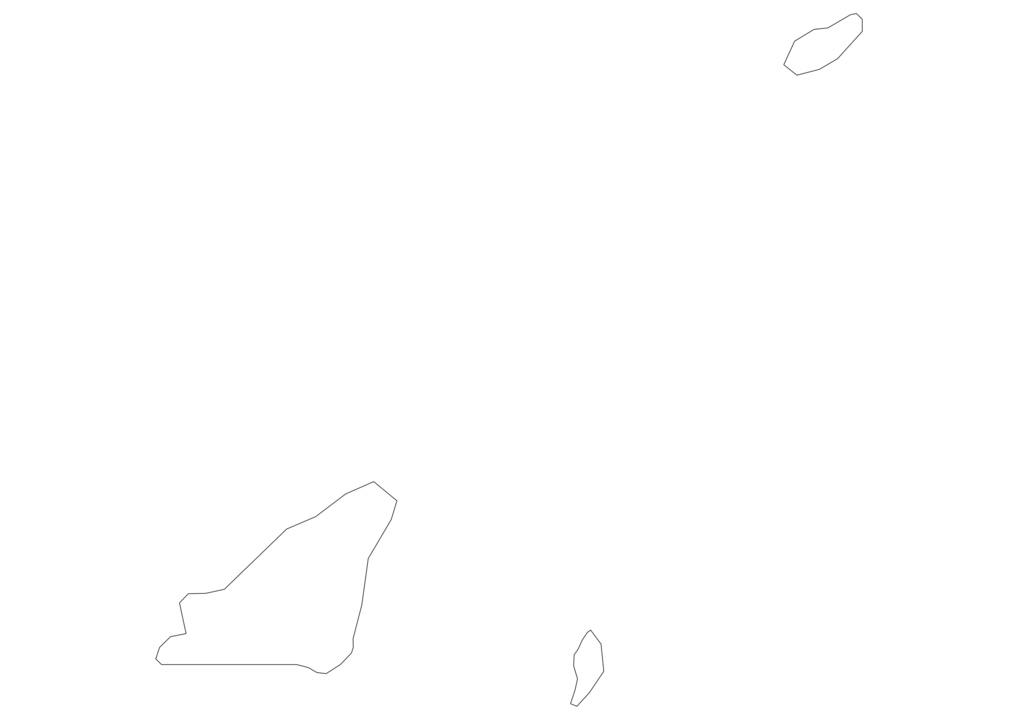 Guernsey Outline Map