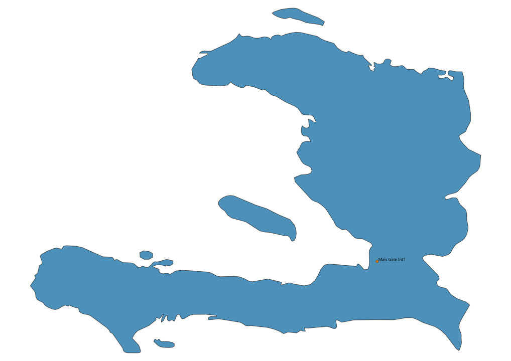 Map of Airports in Haiti