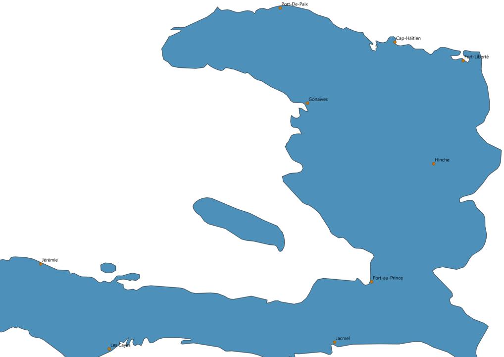 Haiti Cities Map