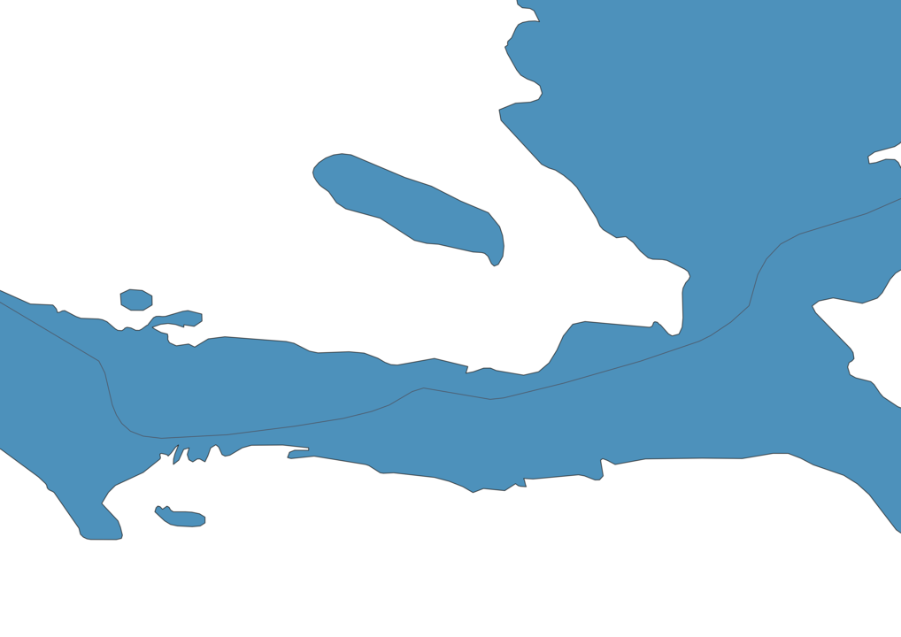 Map of Roads in Haiti