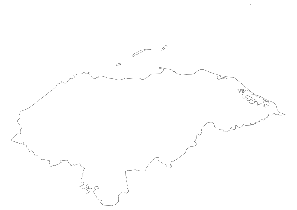 Honduras Outline Map
