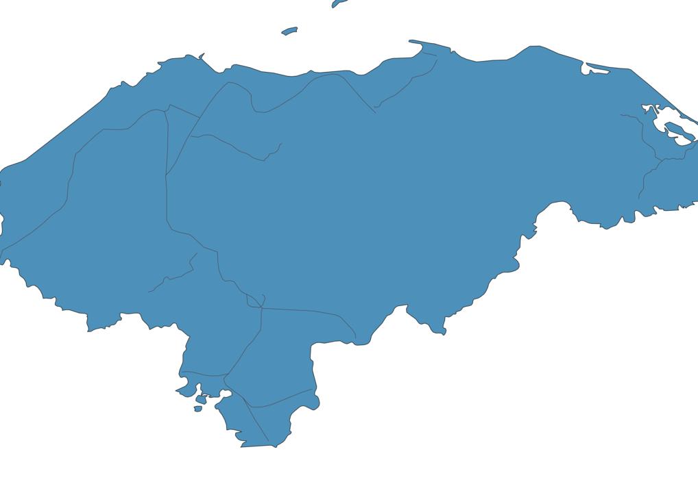 Map of Roads in Honduras
