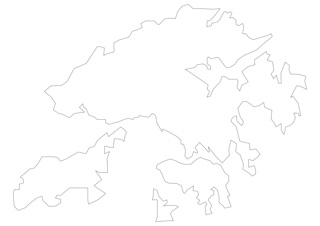 Hong Kong Outline Map