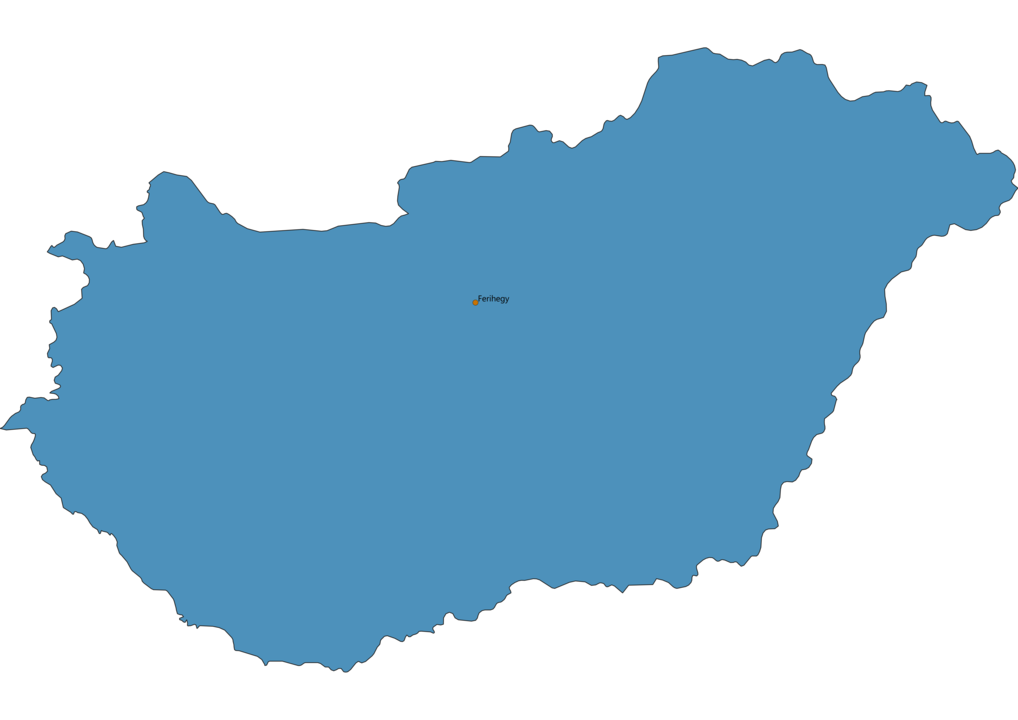 Map of Airports in Hungary