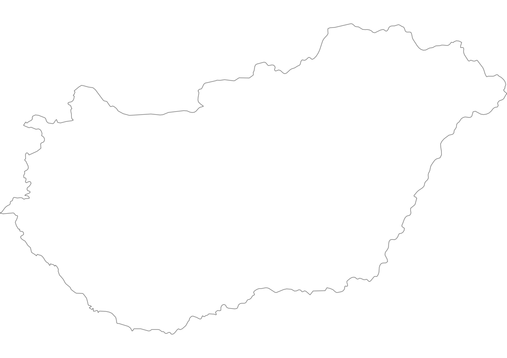 Hungary Outline Map