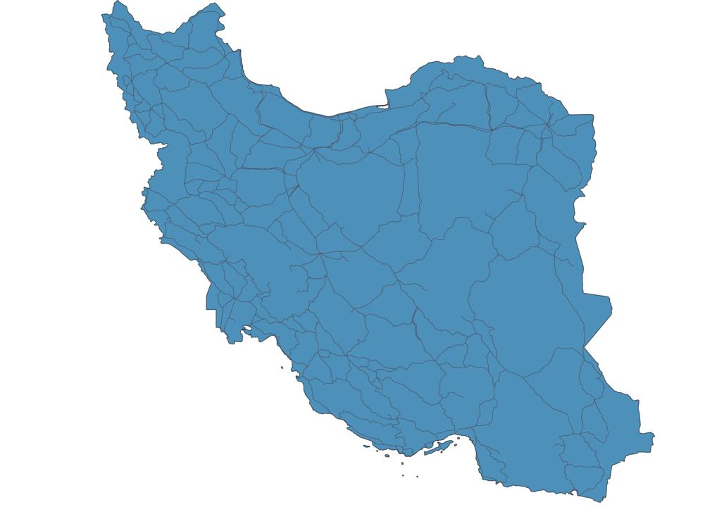 Map of Roads in Iran