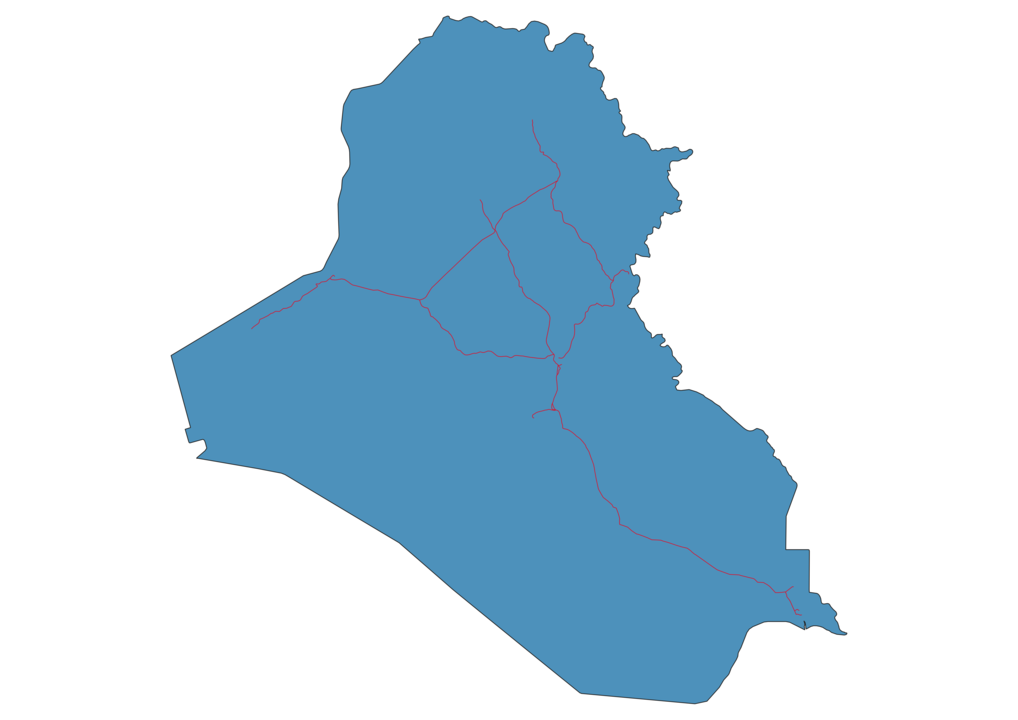 Iraq Railway Map