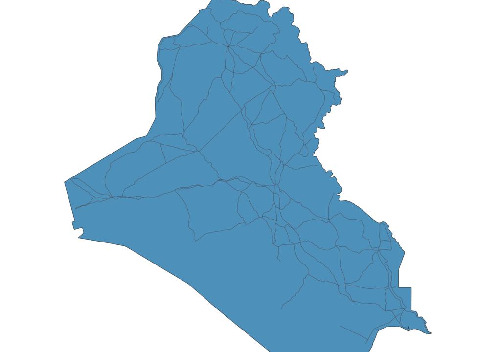 Map of Roads in Iraq