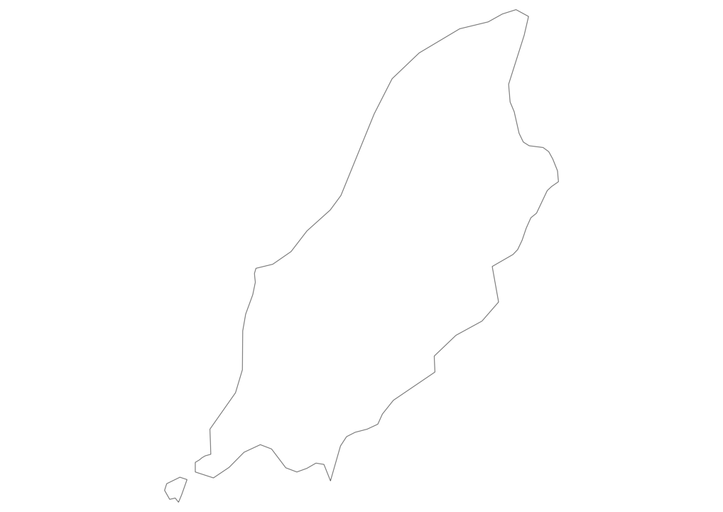 Isle of Man Outline Map