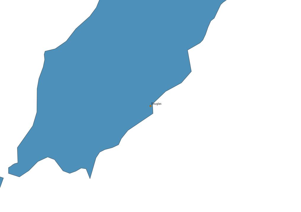 Isle of Man Cities Map