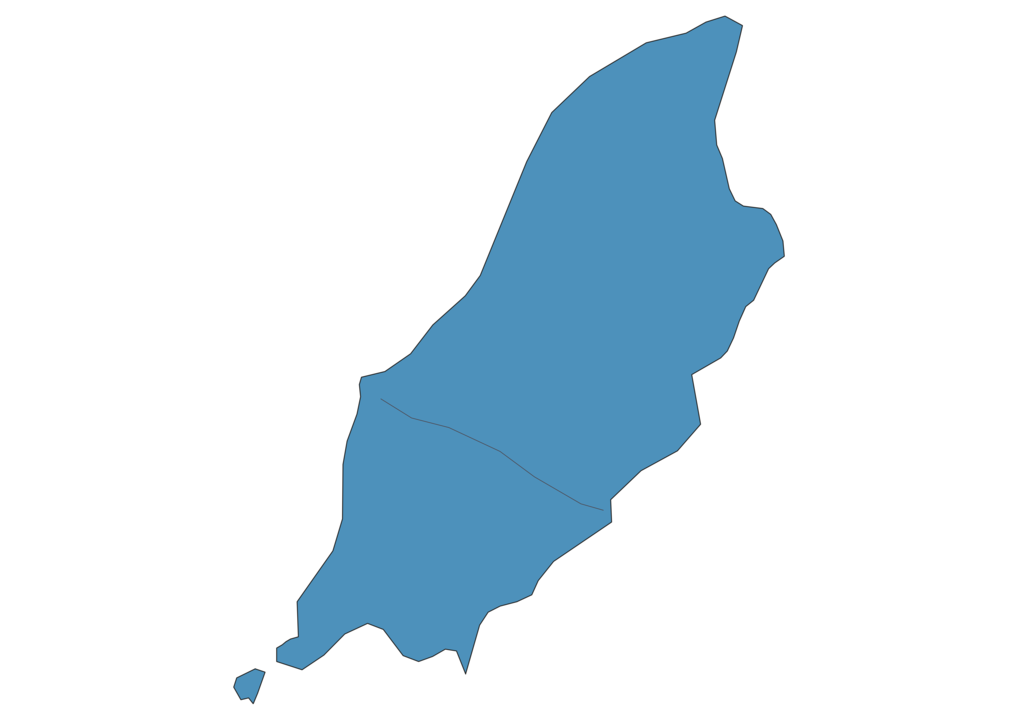 Map of Roads in Isle of Man