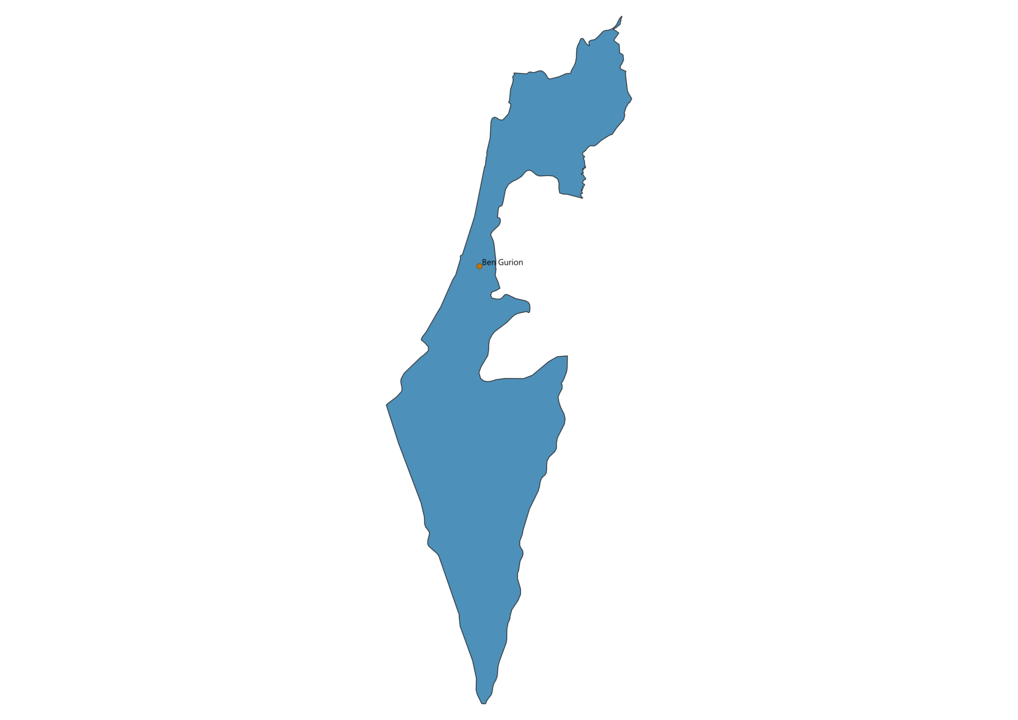 Map of Airports in Israel