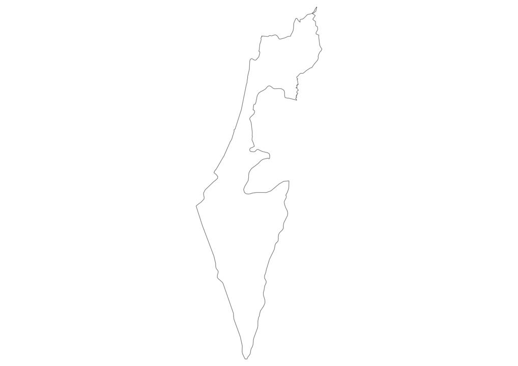 Israel Outline Map