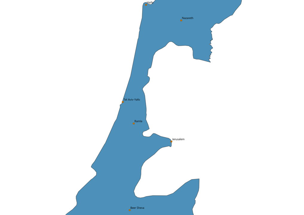 Israel Cities Map
