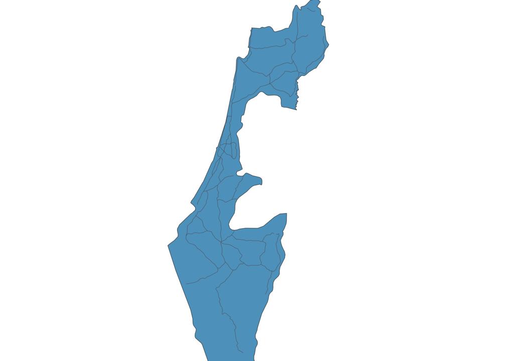 Map of Roads in Israel