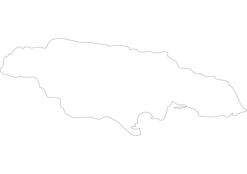 Jamaica Outline Map