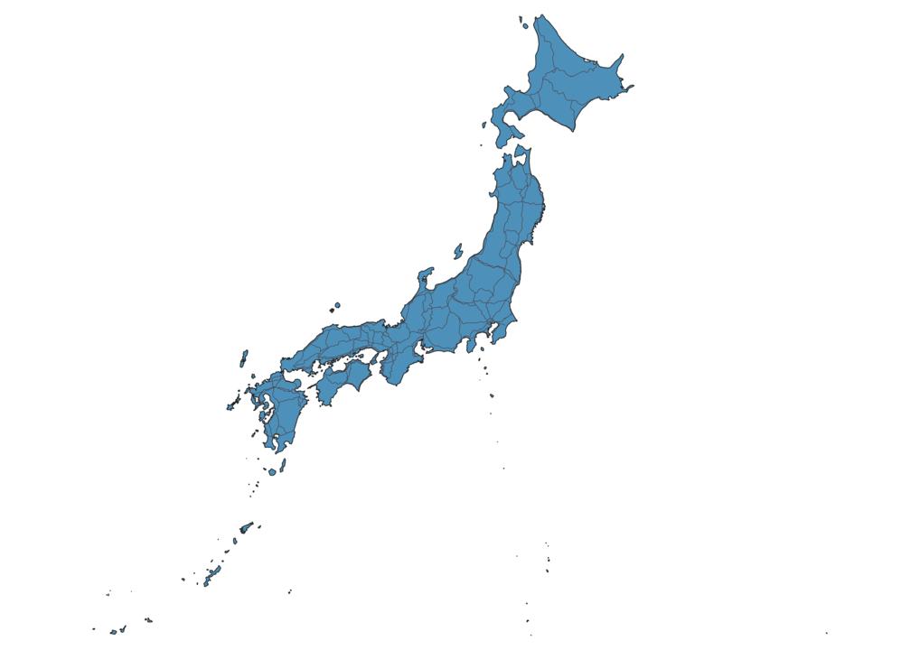 Map of Roads in Japan