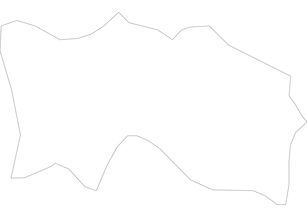 Jersey Outline Map
