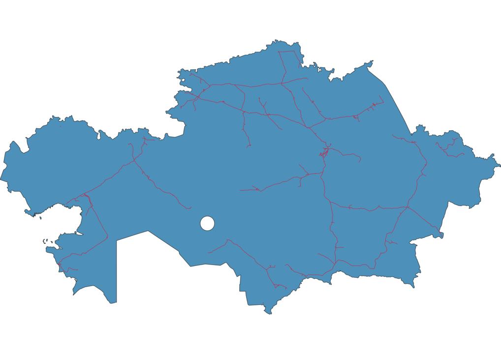 Kazakhstan Railway Map