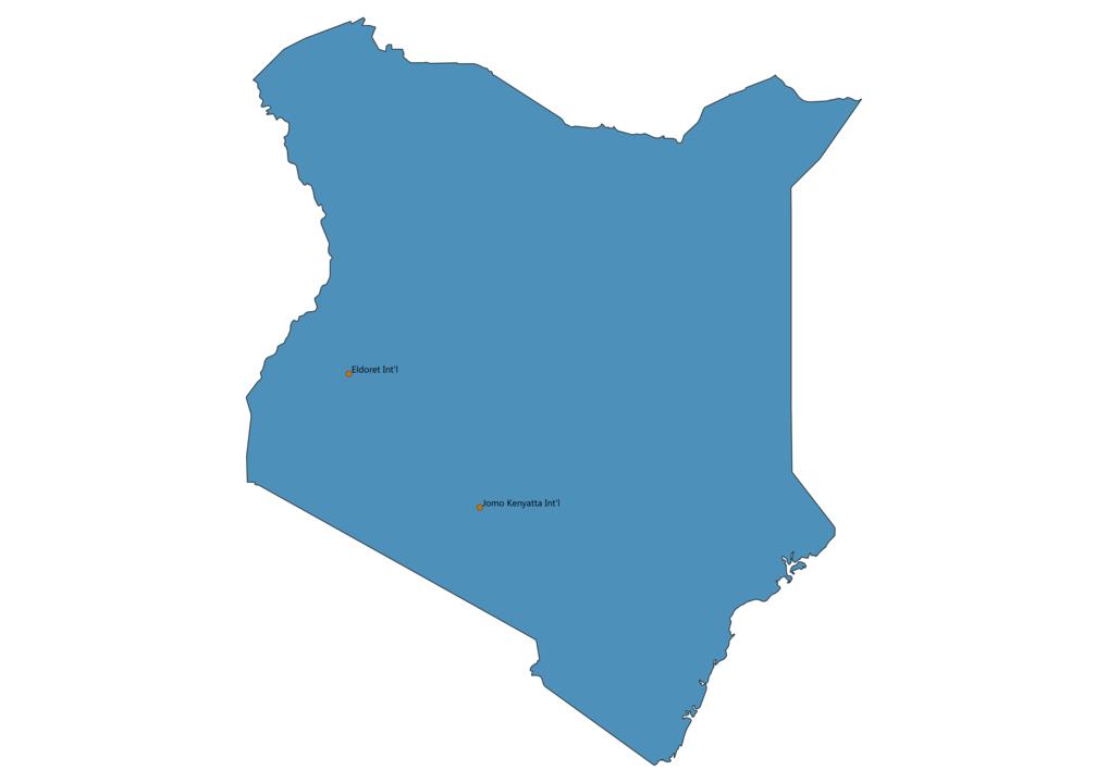 Map of Airports in Kenya