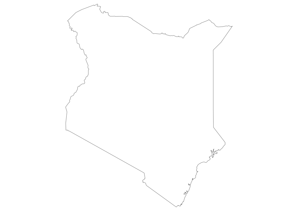 Kenya Outline Map