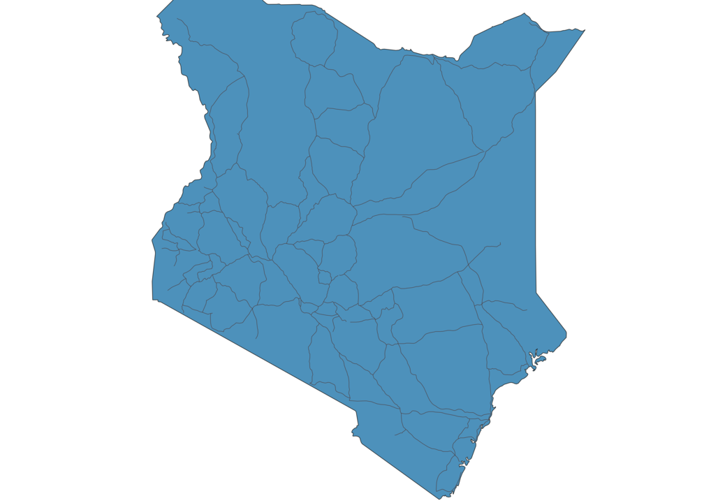 Map of Roads in Kenya