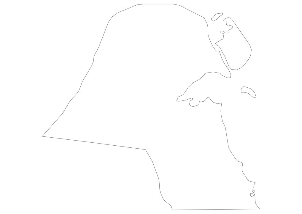Kuwait Outline Map