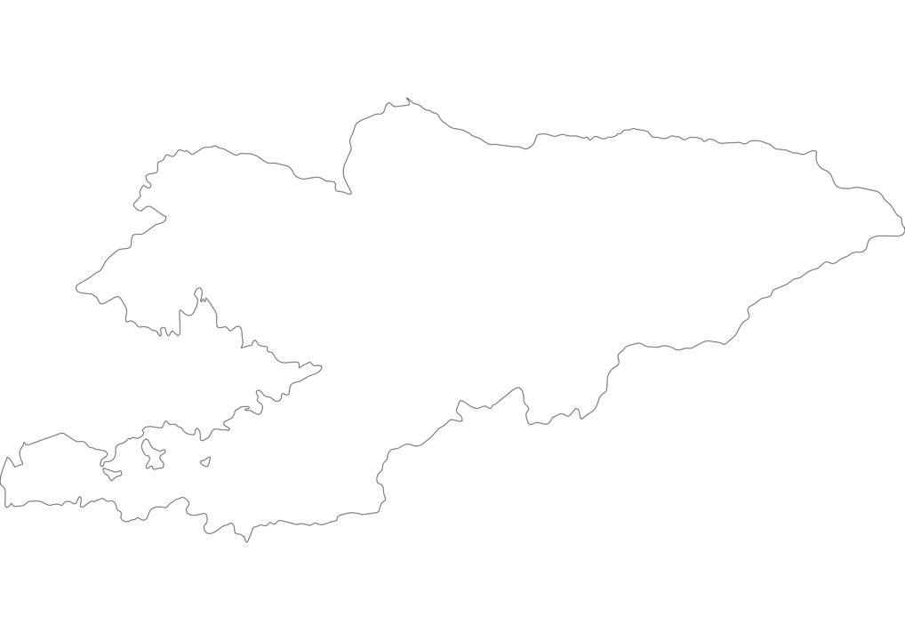 Kyrgyzstan Outline Map