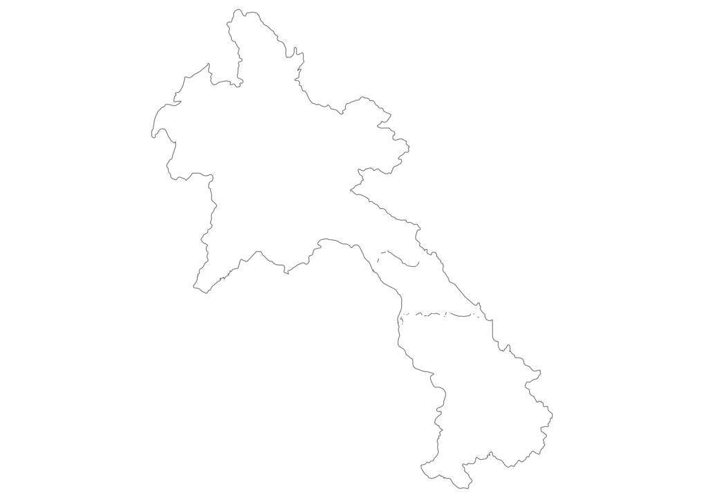 Laos Outline Map