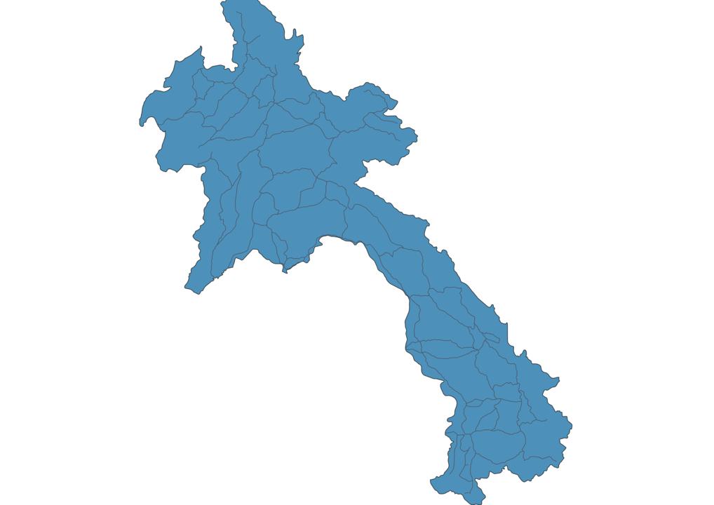 Map of Roads in Laos