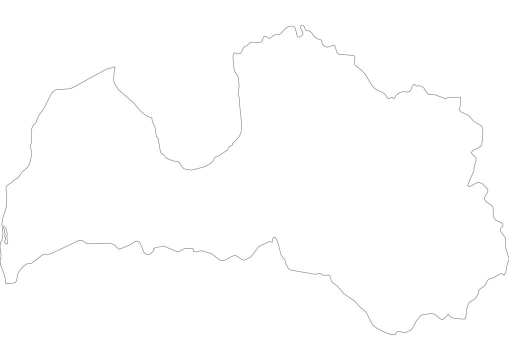 Latvia Outline Map
