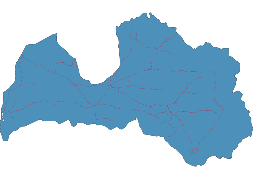 Latvia Railway Map
