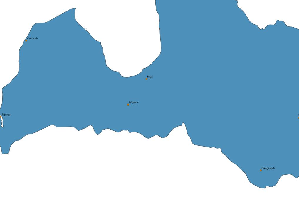 Latvia Cities Map