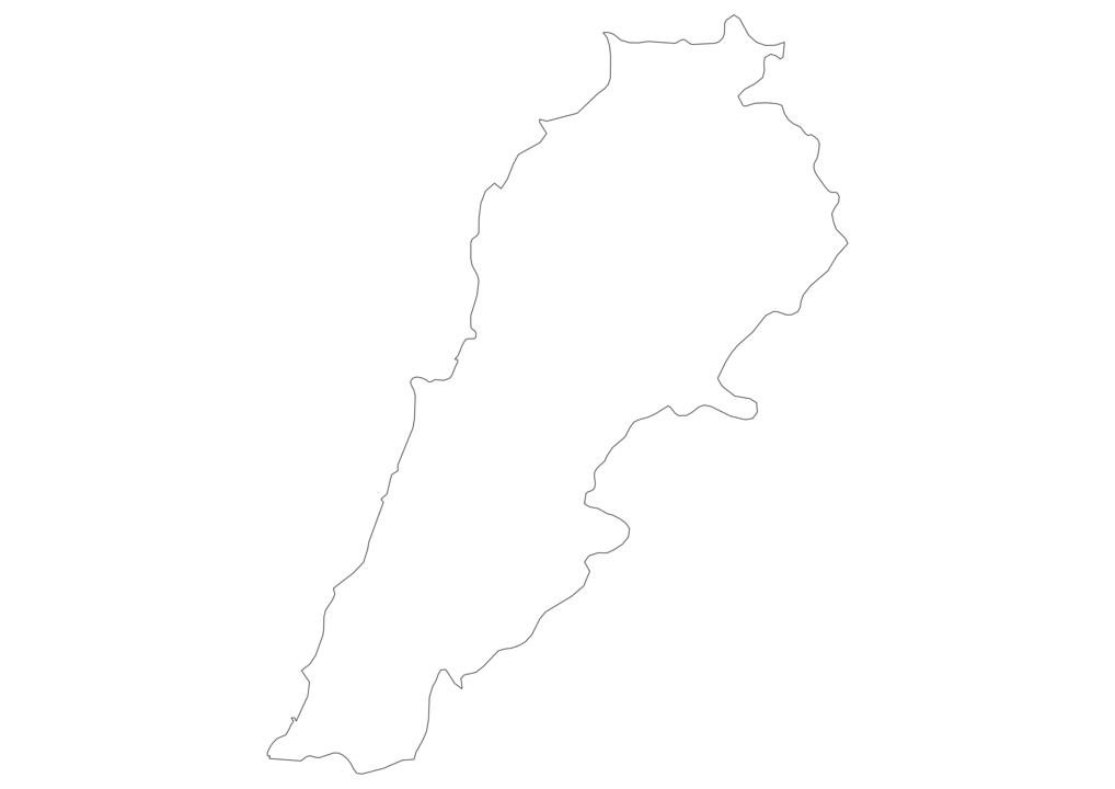 Lebanon Outline Map