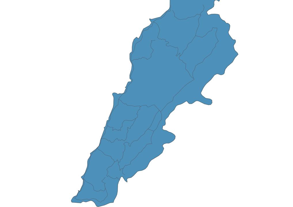 Map of Roads in Lebanon