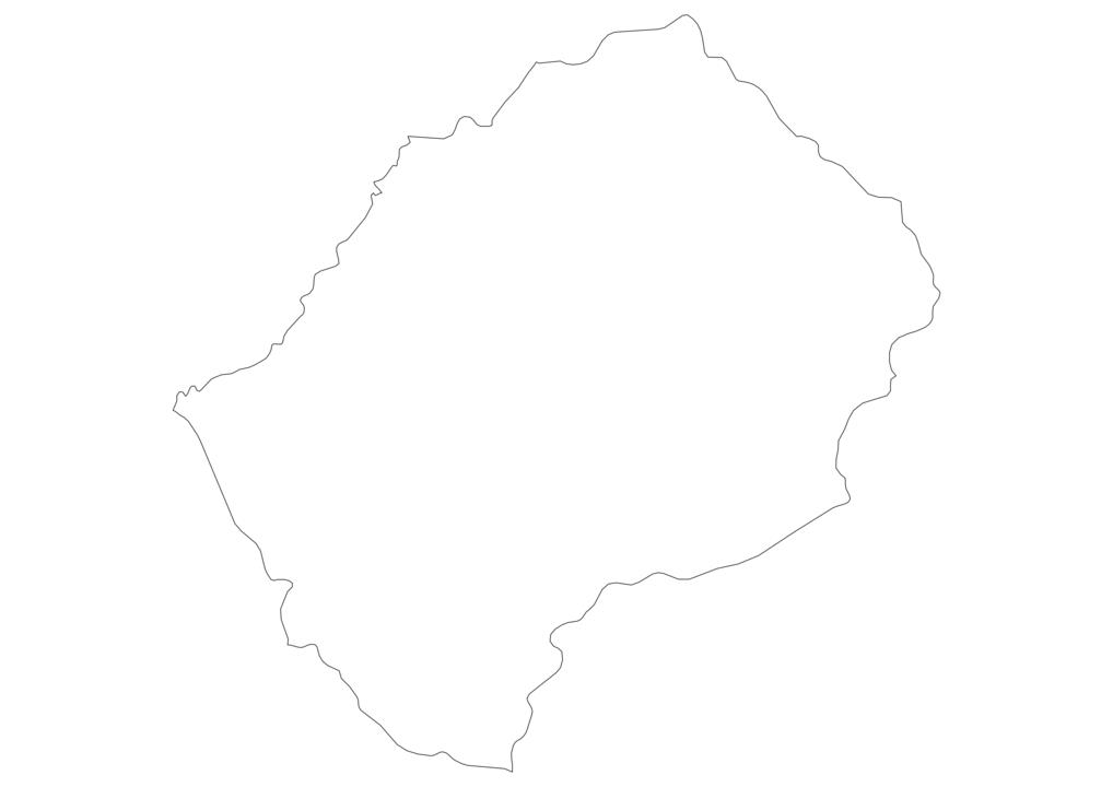 Lesotho Outline Map