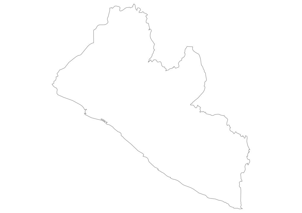 Liberia Outline Map