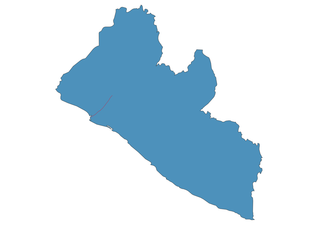 Liberia Railway Map